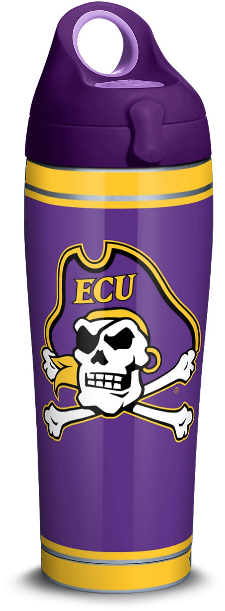 Clear 1219902 24 oz Tervis East Carolina University College Pride Water Bottle with Grey Lid