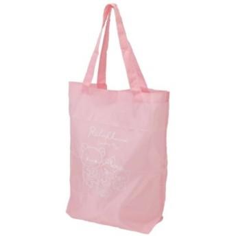 リラックマ エコバッグ ジップ入り ショッピングバッグ ピンク サンエックス アイプランニング 39×40cm