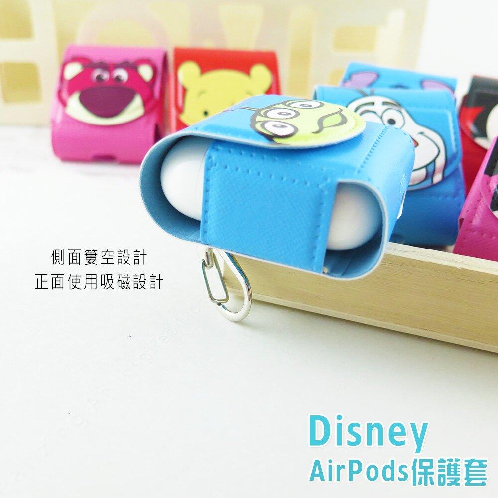 Disney迪士尼 AirPods硬式保護套 大臉系列 PU皮革iphone耳機殼 米奇 維尼 三眼怪 史迪奇 熊抱哥 正版3C