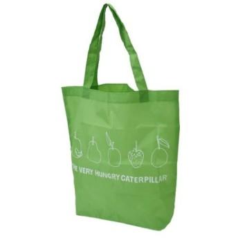 ジップ入り ショッピングバッグ はらぺこあおむし エコバッグ グッズ グリーン キャラクター