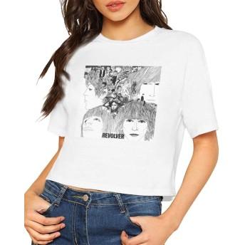 Tシャツ レディース トップス ビートルズ 丸首 半袖 セクシー シンプル へそ出し ゆったり ブラウス レディース 可愛い 快適 上着 カジュアル ファッション プレゼント スポーツ 夏服