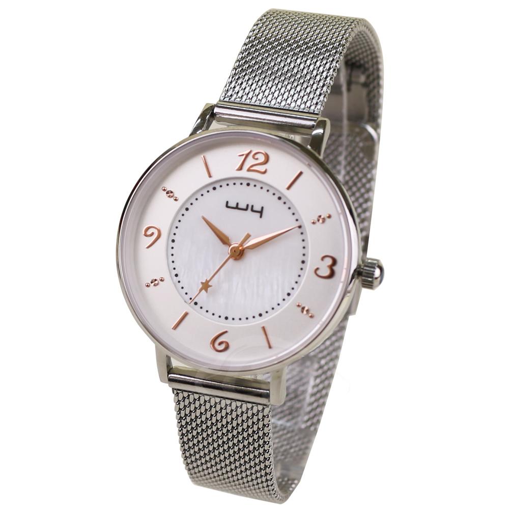 【WY威亞】探索視界米蘭銀帶錶-白盤金針