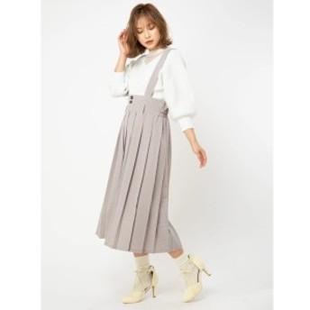 セシルマクビー(CECIL McBEE)/サス付きプリーツスカート