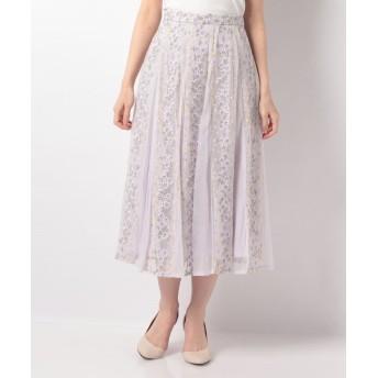 【10%OFF】 ノエラ フラワー刺繍チュールスカート レディース ラベンダー S 【Noela】 【タイムセール開催中】