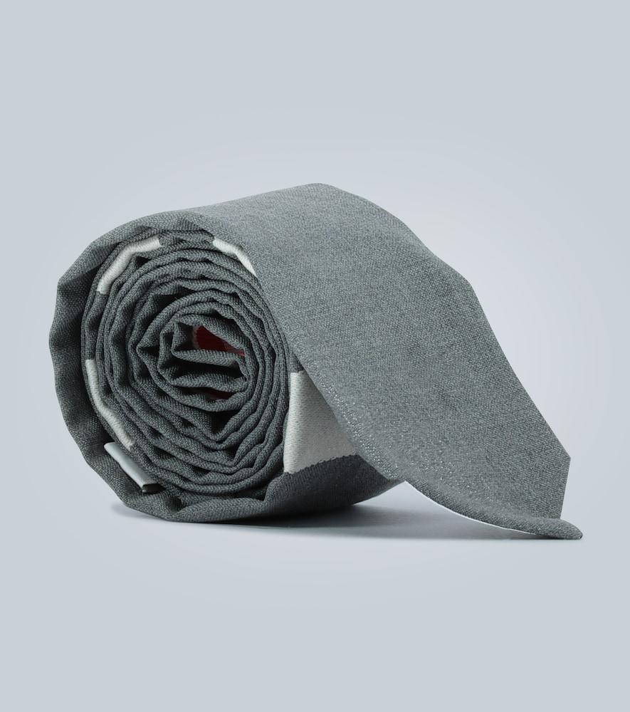 4-Bar wool tie