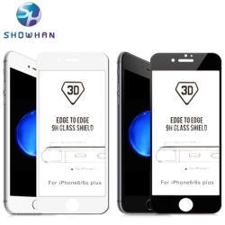 【SHOWHAN】iPhone6+/6s+ 美國玻璃材質9H鋼化3D曲面玻璃保護貼 兩色可選
