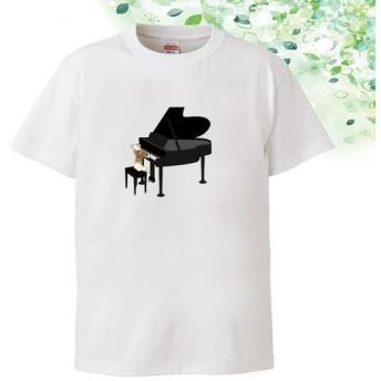 オリジナル イラスト Tシャツ「フレンチブルドックのピアノ」全8色