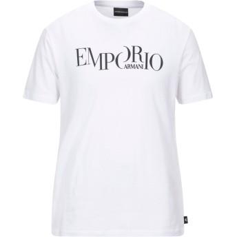 《セール開催中》EMPORIO ARMANI メンズ T シャツ ホワイト XL コットン 100%