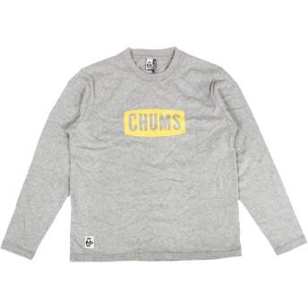 (チャムス) CHUMS ボートロゴ 長袖Tシャツ メンズ CH01-1284 (M, G005:ヘザーグレー)