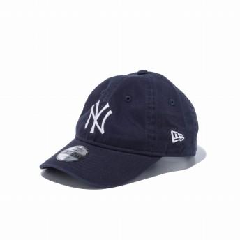 NEW ERA ニューエラ キッズ 9TWENTY ニューヨーク・ヤンキース ネイビー × ホワイト アジャスタブル サイズ調整可能 ローキャップ ベースボールキャップ キャップ 帽子 男の子 女の子 49.2 - 53.9cm 12326080 NEWERA