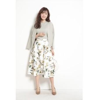 ジャスグリッティー(JUSGLITTY)/水彩フラワープリントスカート