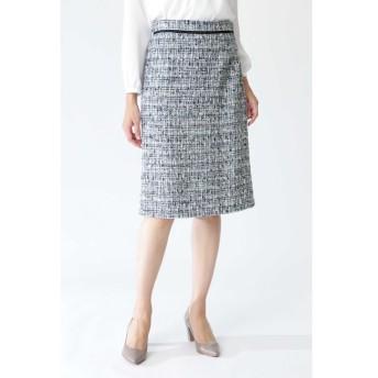 【ナチュラルビューティー/NATURAL BEAUTY】 ツィードAラインスカート