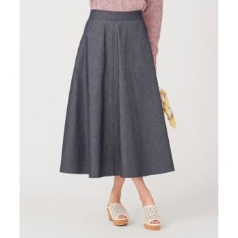 【エニィスィス/any SiS】 【洗える】デニムライクツイルフレア スカート