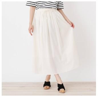 【ピンクアドベ/pink adobe】 ウエストリボン ギャザースカート