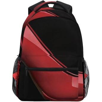 EILANNA リュックサック、セックスの女性靴黒の背景に赤のハイヒール、軽量 大容量 男女兼用 おしゃれ 可愛い リュックバックパッ 通学 通勤 外出 アウトドア 多機能