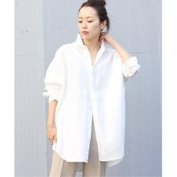 Plage Linen Big シャツ◆ ホワイト フリー