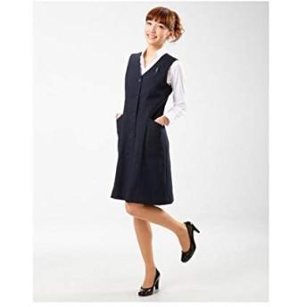 レディーススーツ [nissen(ニッセン)] 【事務服・ベストスーツ】洗える防汚加工ワンピース(丈95cm) B・紺 5