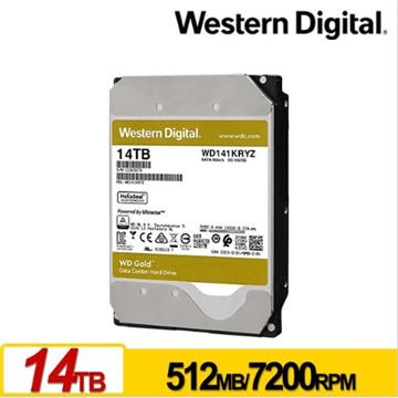 WD威騰 3.5吋 14TB SATA企業級硬碟 金標(WD141KRYZ)