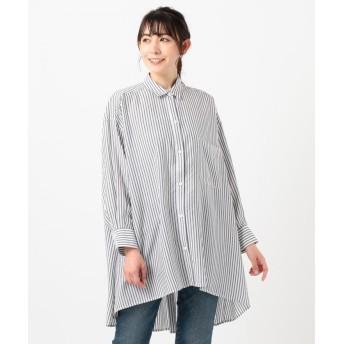 シェアパーク フレアチュニックシャツ レディース ブラック系1 1 【SHARE PARK】