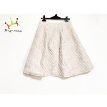 エムズグレイシー スカート サイズ40 M レディース 美品 ベージュ フラワー/キルティング 新着 20200208