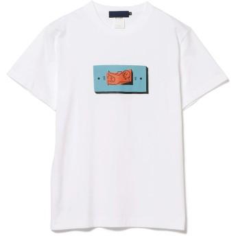 (ビームス)BEAMS/半袖プリントTシャツ Hikaru Matsubara × BEAMS T TURN IT OFF TEE メンズ WHITE M