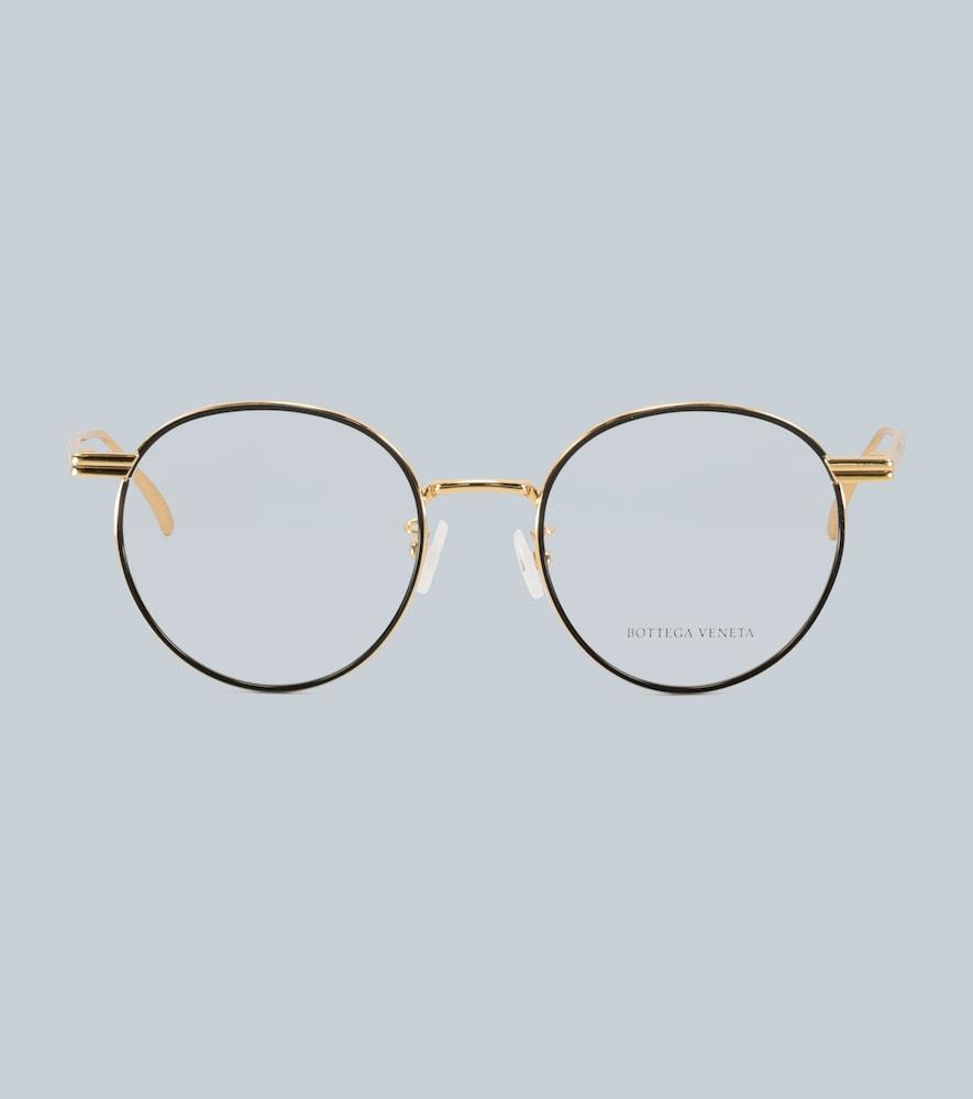 Round-frame metal glasses