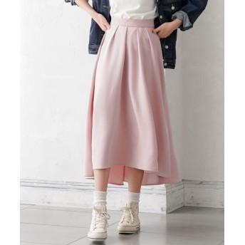 (YUMETENBOU/ユメテンボウ)ロングフィッシュテールスカート/レディース ピンク