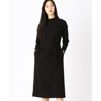 COMME CA/コムサ Iラインマキシ丈ドレス ブラック 5号