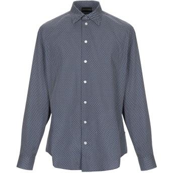 《セール開催中》EMPORIO ARMANI メンズ シャツ ダークブルー S コットン 100%