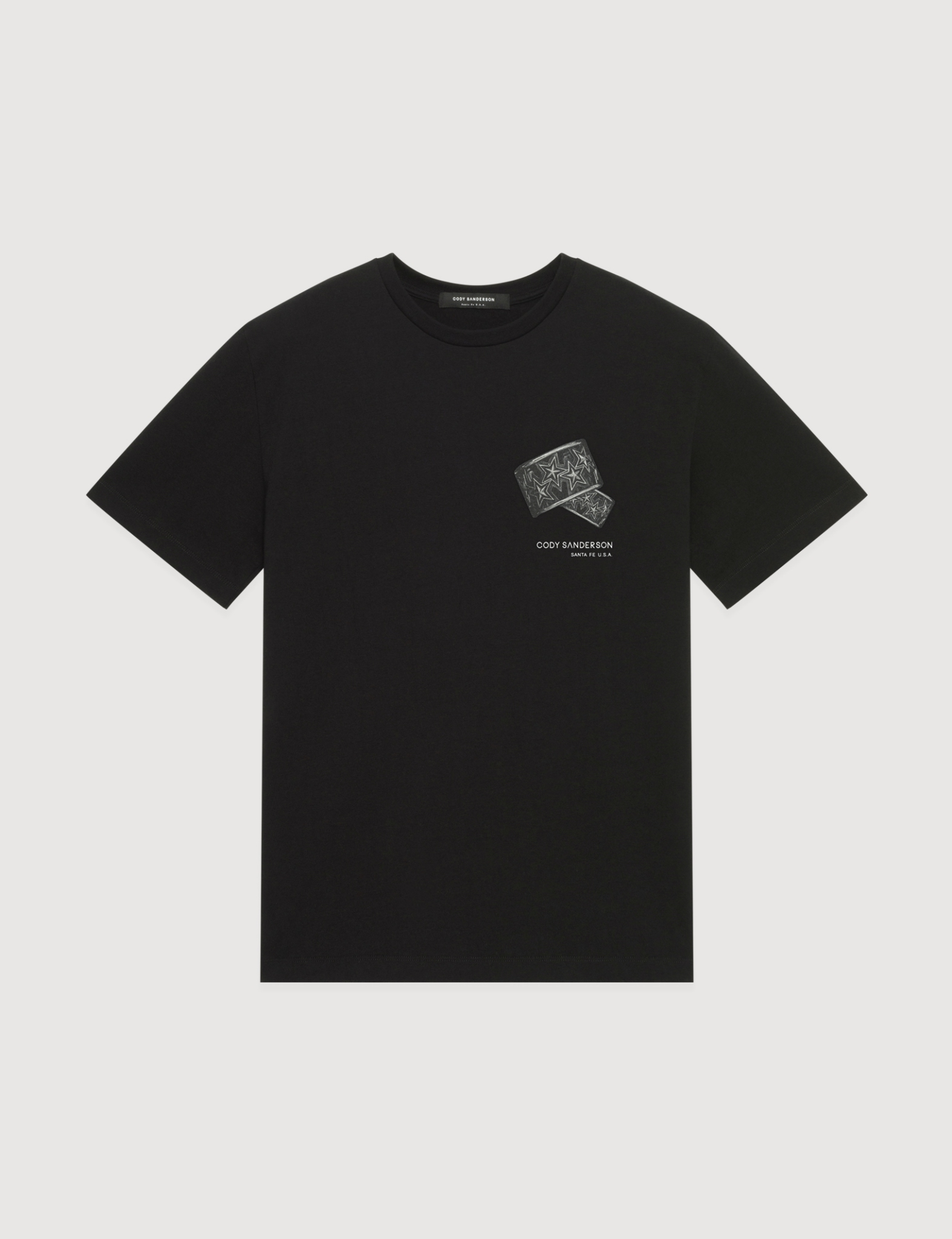 BRACELET PRINTED TEE (BLACK)     [USD $300]