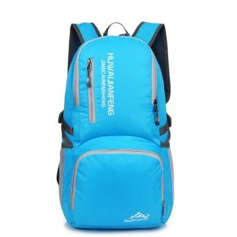 バックパック 超軽量折りたたみ式ハイキング便利な折りたたみ式キャンプアウトドアスクール複数のカラーオプション 山登り泊旅行海外旅行 (Color : Sky blue)