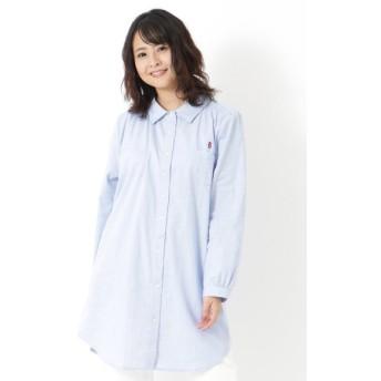 【大きいサイズレディース】【20春新作】無地ロングシャツ トップス シャツ