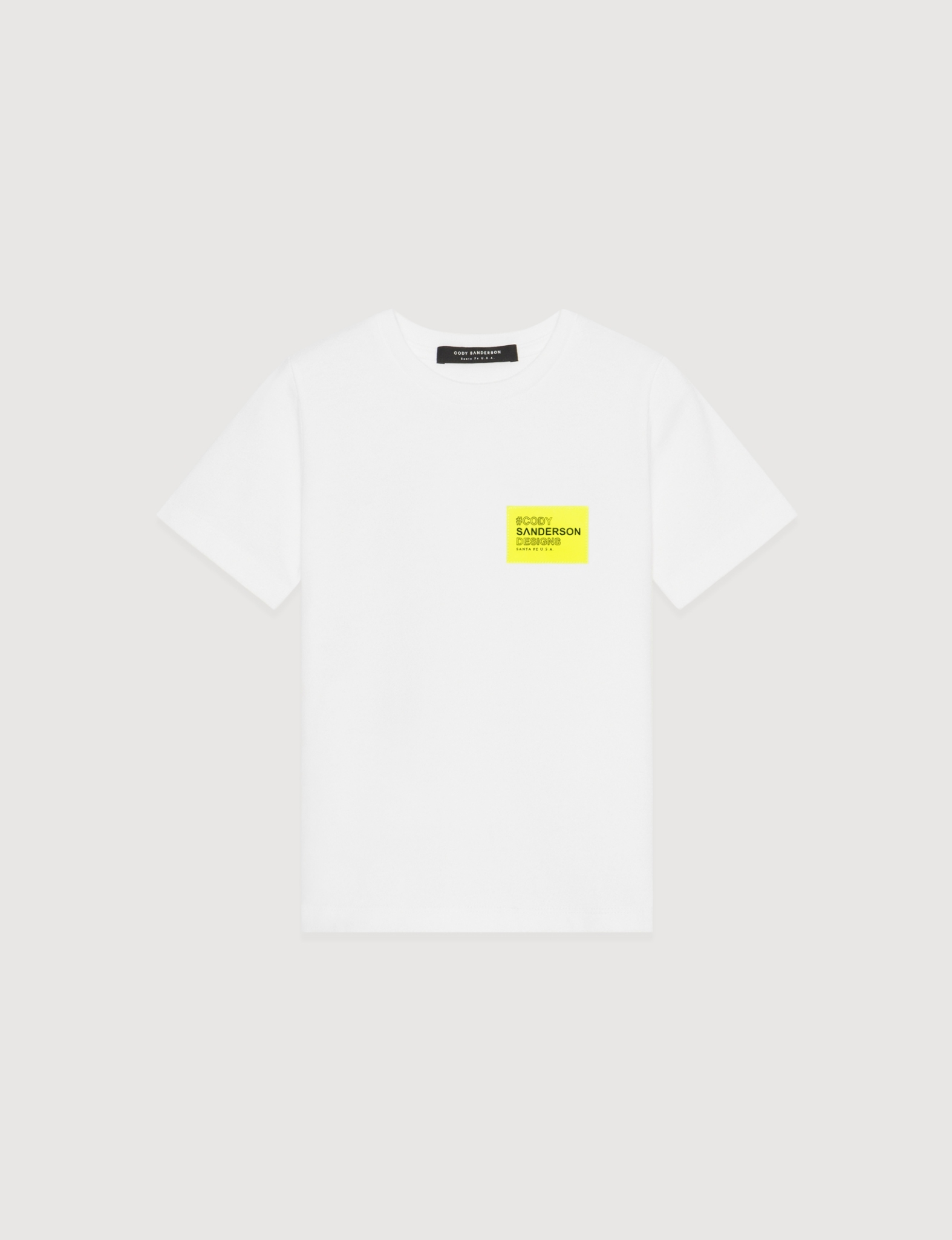 NEON SQUARE PATCH KID TEE (WHITE)     [USD $120]