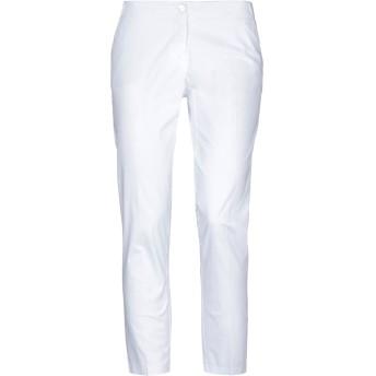 《セール開催中》CARLA G. レディース パンツ ホワイト 40 コットン 96% / ポリウレタン 4%