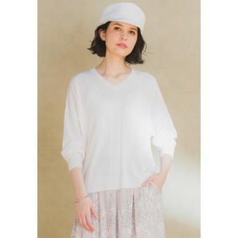 MAYSON GREY メイソングレイ マスタリースムースロングTシャツ Tシャツ・カットソー,ホワイト