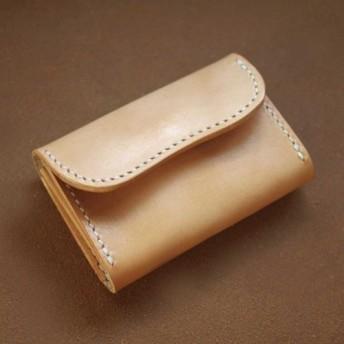 本革名刺入れ(受注制作)手縫いヌメ革ナチュラル 牛皮牛革 天然