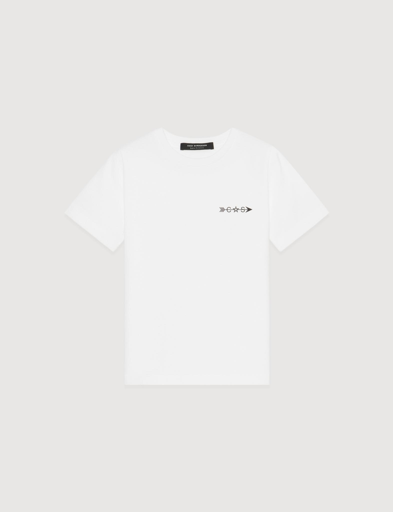 STAR LINE KID TEE (WHITE)     [USD $130]