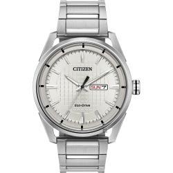 CITIZEN 星辰 光動能紳士手錶-銀/42mm AW0080-57A
