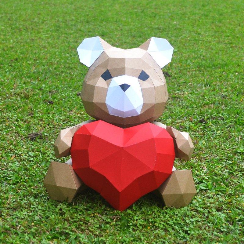 【買就送 每單送 幸運春鳥送給你】熊熊的愛DIY紙模型