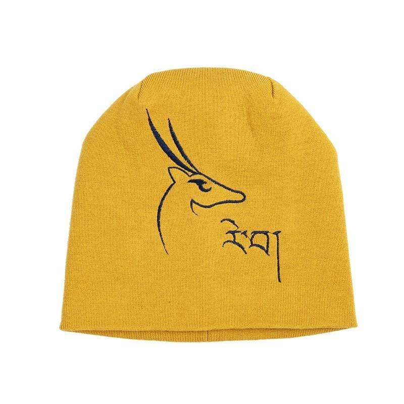 玉樹希望羚羊兩用帽子 - 向日葵黃