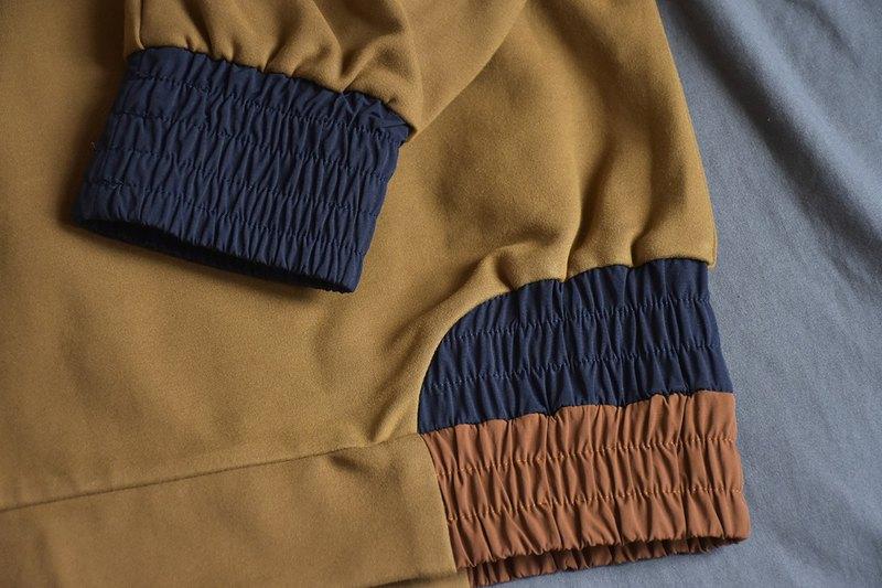 棉質拼色衛衣