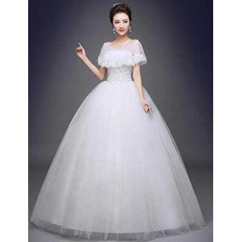 ウェディングドレス フォマールドレスロングドレス エンパイアドレスフリルドレス