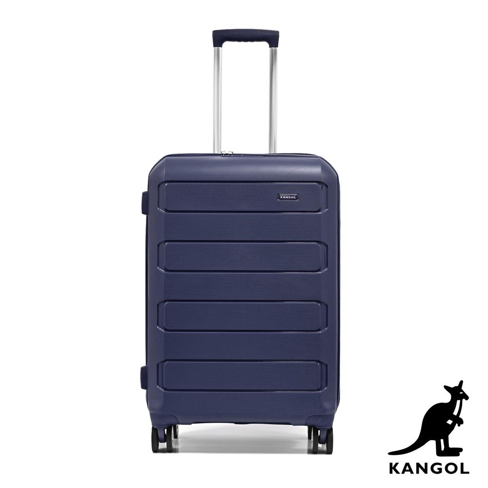 KANGOL 英國袋鼠24吋輕量耐磨可加大PP行李箱