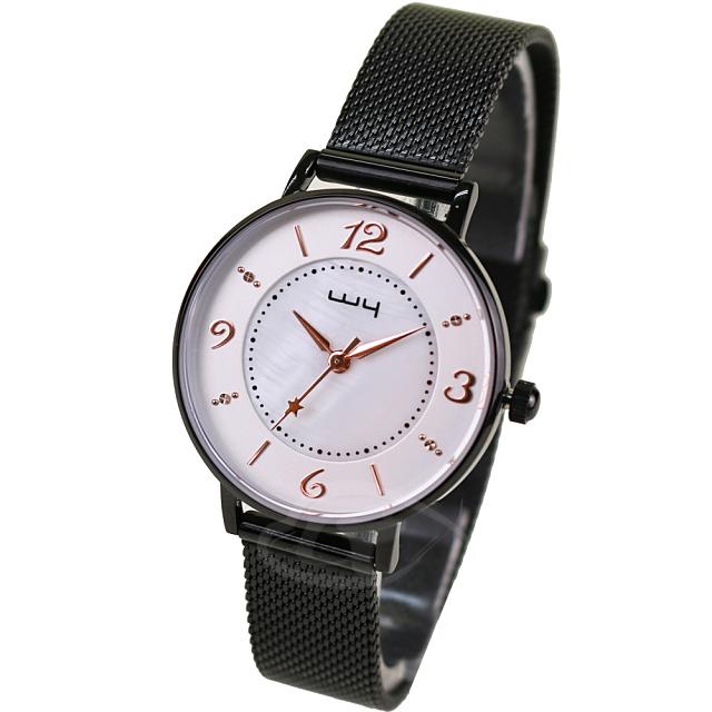 【WY威亞】探索視界米蘭黑帶錶-白盤金針