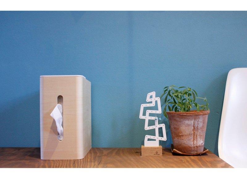 日本 yamato japan純手工木製多功能面紙盒含小型垃圾桶(高)-四色
