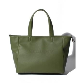 (MOUSSY(BAG)/マウジー バッグ)【MOUSSY】LOGO PUNCHING BASIC NEW TOTE M M01-1-00086/レディース KH