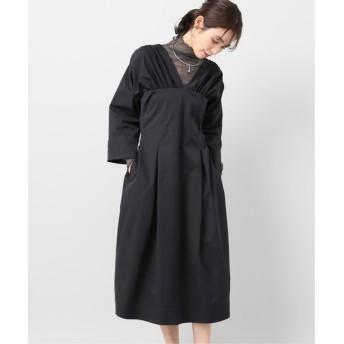 CITYSHOP 【ELIN/エリン】Gathered corset dress ワンピース ブラック 38