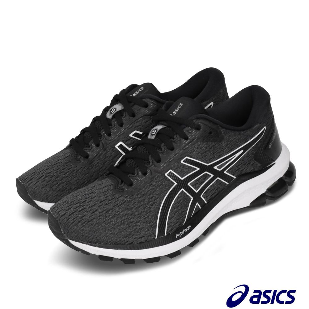 ASICS 慢跑鞋 GT-1000 9 D 寬楦 女鞋 亞瑟士 路跑 緩震 FlyteFoam 灰 黑 [1012A695020]