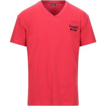 《セール開催中》FK PROJECT メンズ T シャツ レッド XS コットン 100%
