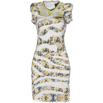 《セール開催中》CAVALLI CLASS レディース ミニワンピース&ドレス ホワイト 44 レーヨン 100%